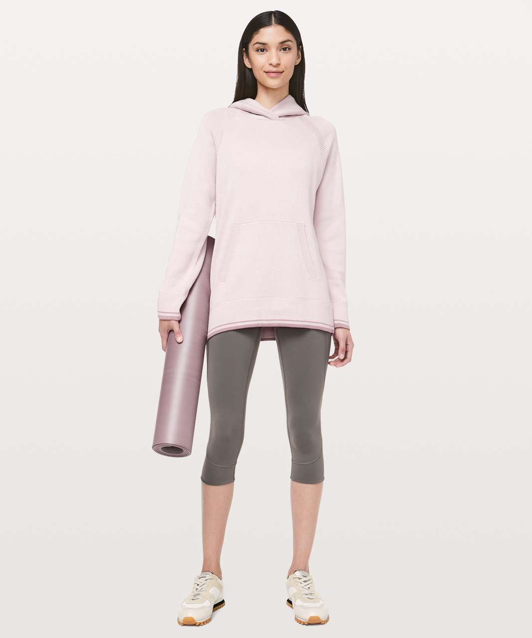 Lululemon Soothe Away Hoodie - Pink Bliss / Copper Coil