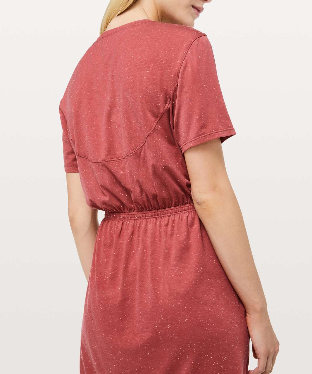 Lululemon Unwind Your Mind Dress - Brick Rose / White