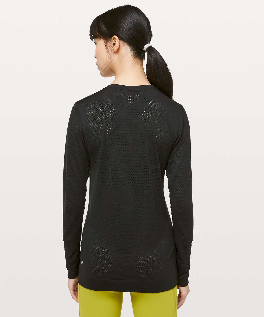 Lululemon Breeze By Long Sleeve *lululemon - Black / Black