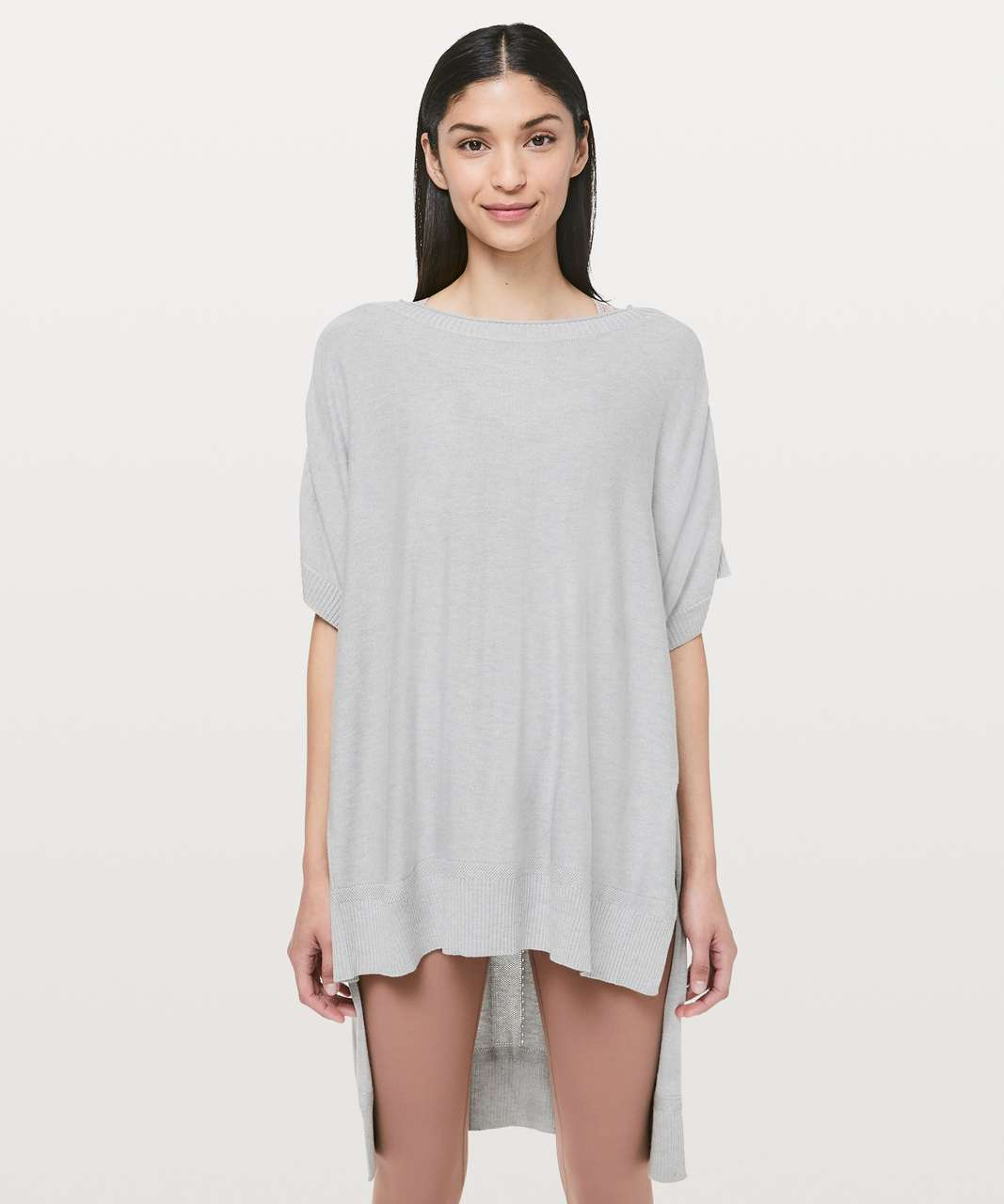 Lululemon Be At Ease Poncho - Heathered Silver Drop