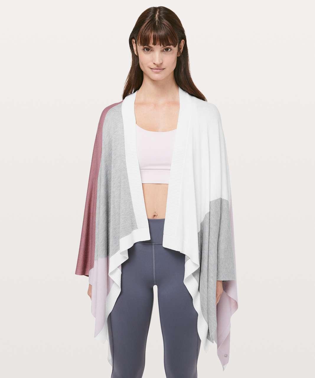Lululemon Hatha Wrap - Quicksand / Misty Pink / White / Heathered Core Light Grey