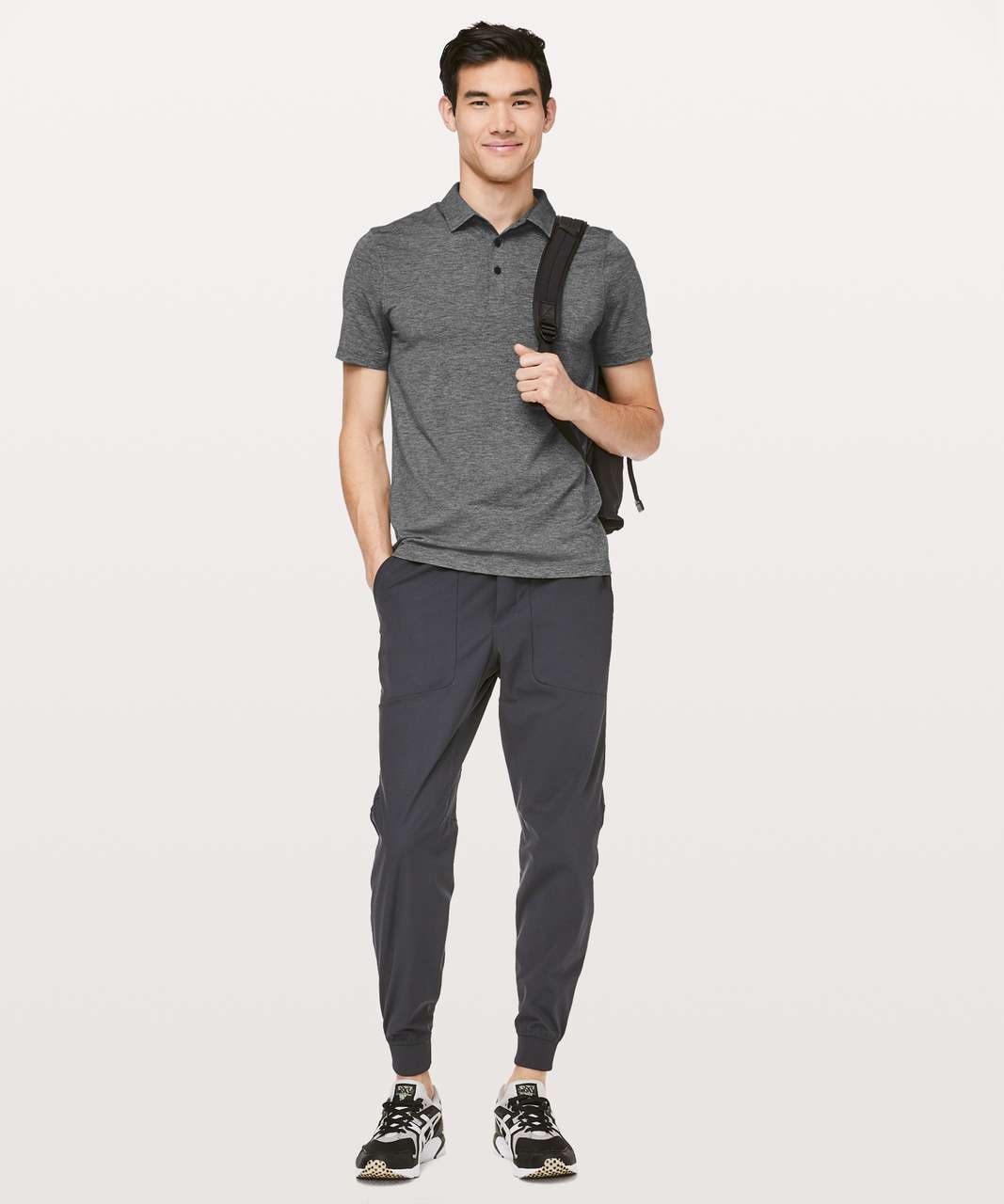 Lululemon Evolution Polo - Heathered Black