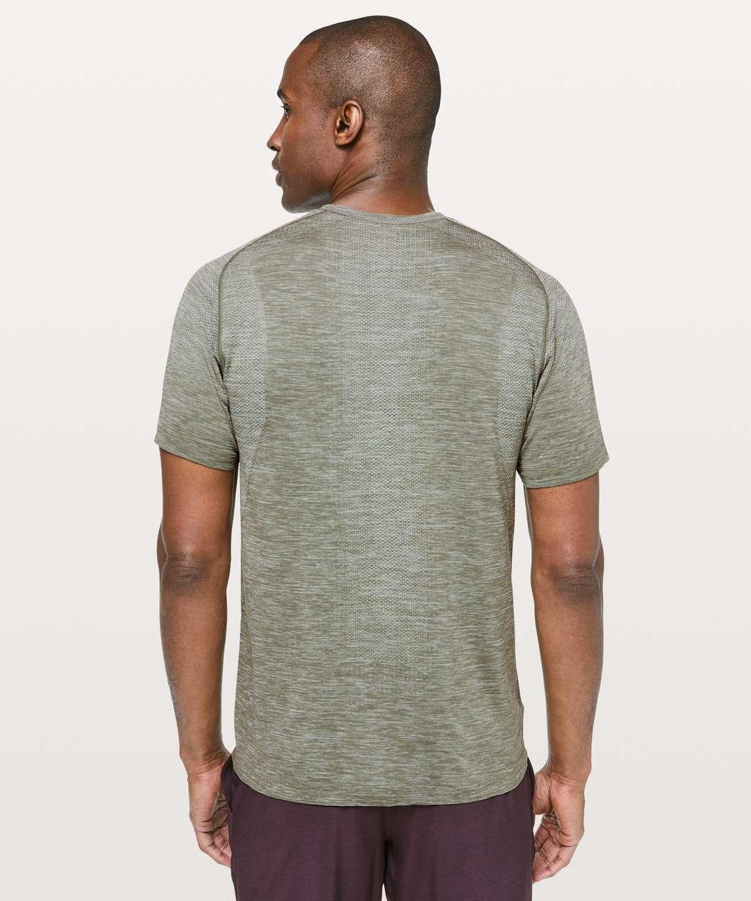 Lululemon Metal Vent Tech Short Sleeve V - Ocean Mist / Grey Sage