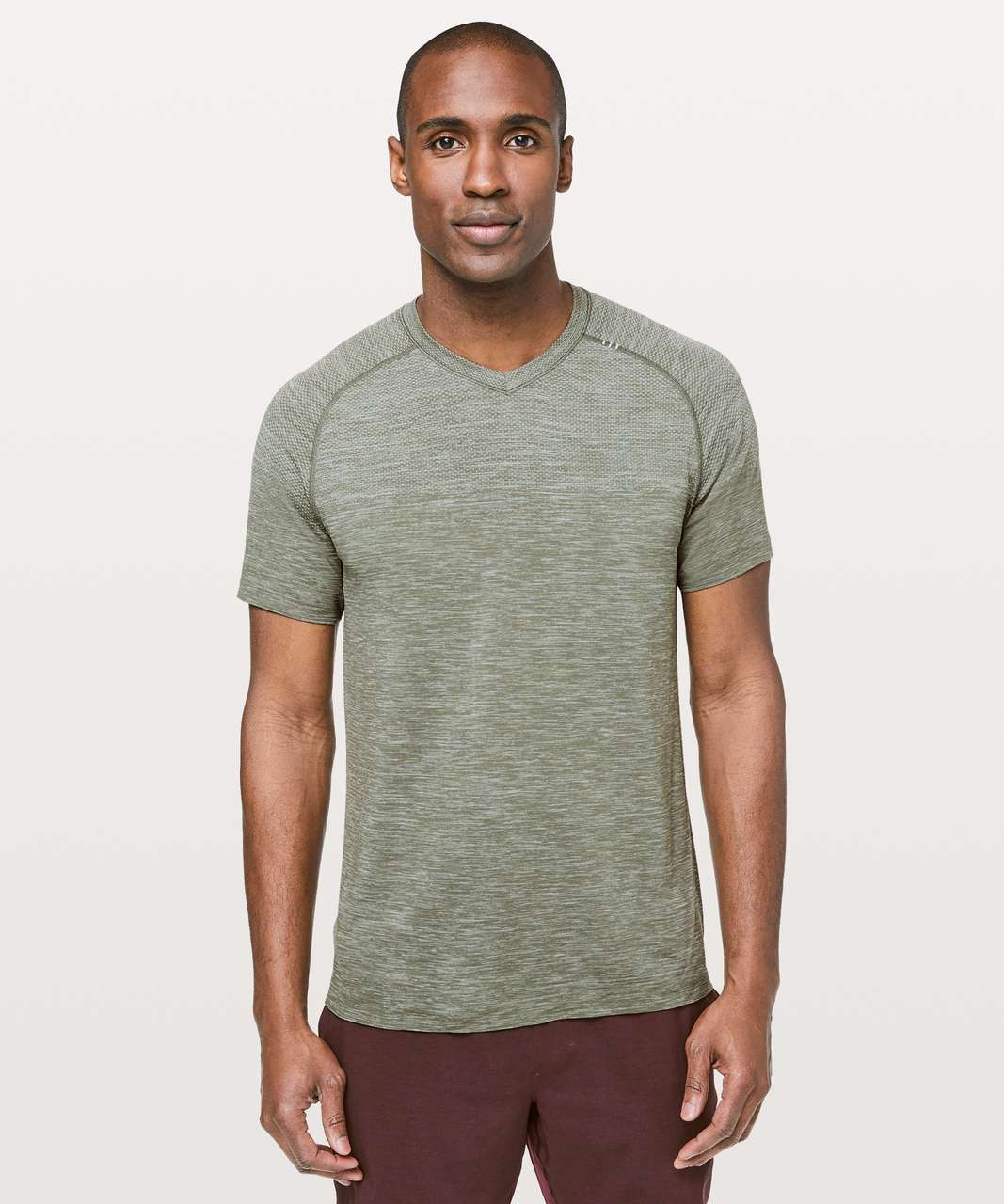 Lululemon Metal Vent Tech Short Sleeve V - Ocean Mist / Grey Sage
