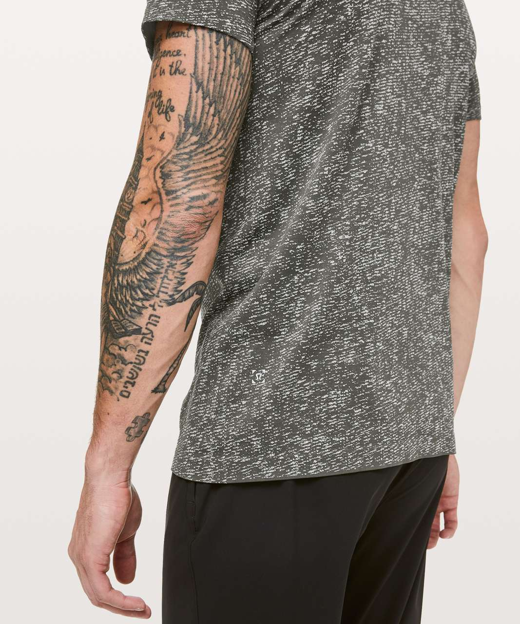 Lululemon Metal Vent Tech Short Sleeve Henley - Dark Olive / White