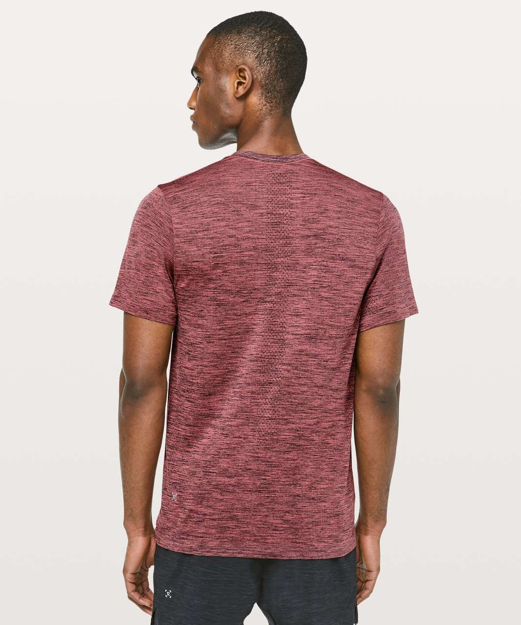 Lululemon Metal Vent Tech Surge Short Sleeve - Obsidian / Brick Rose