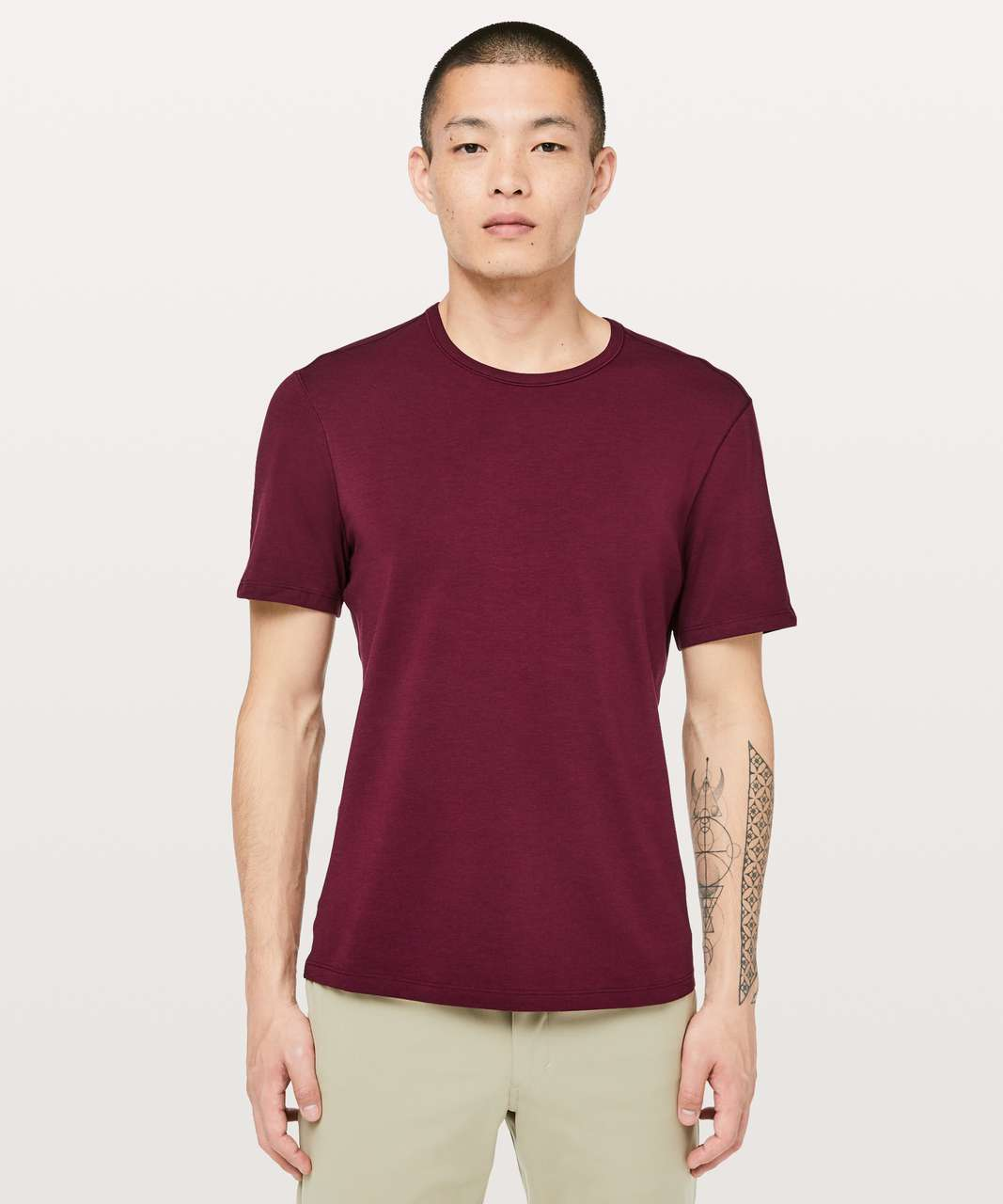 Lululemon 5 Year Basic Tee *Updated Fit - Deep Ruby