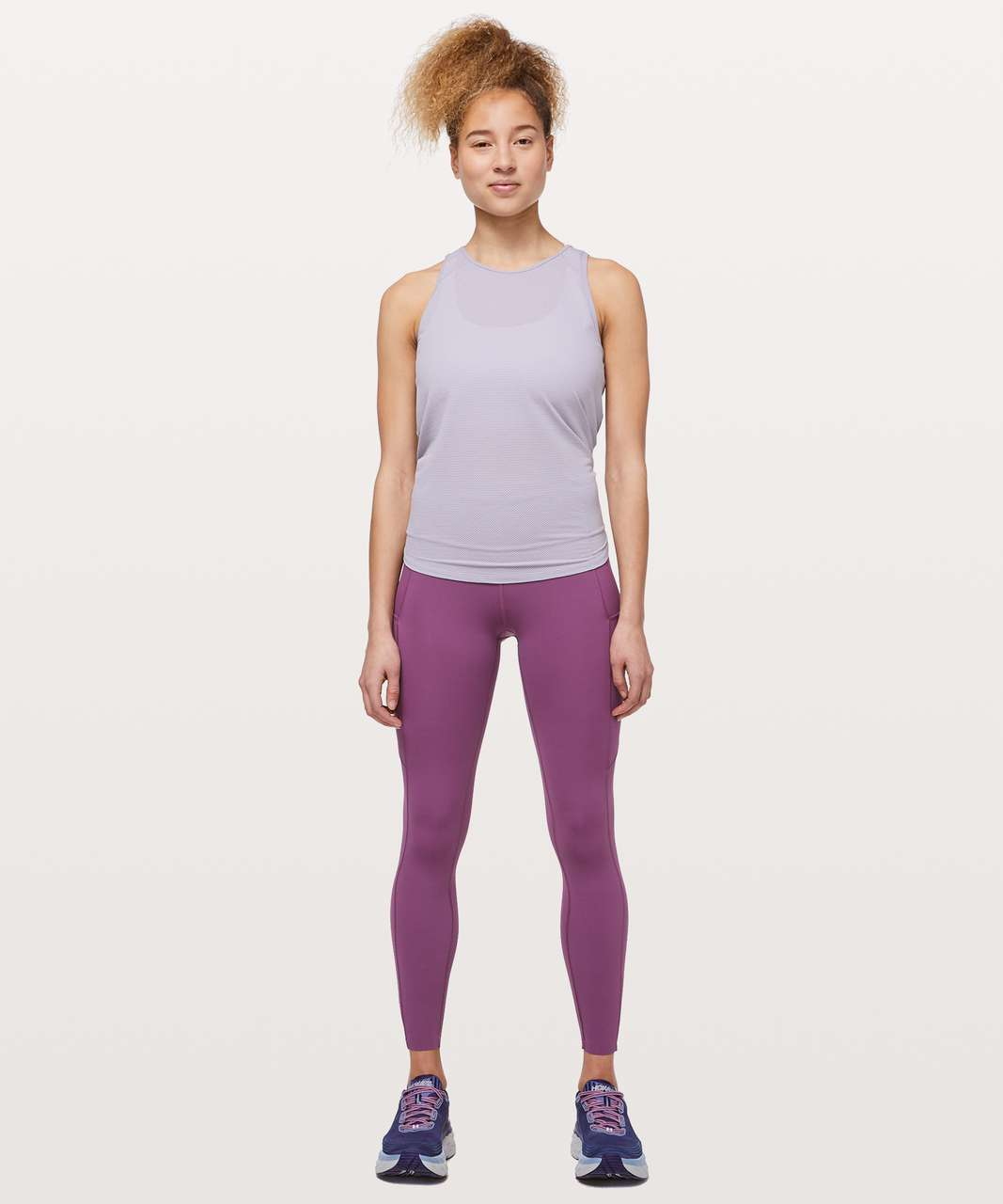 "Lululemon Fast & Free 7/8 Tight II *Non-Reflective Nulux 25"" - Vintage Plum"