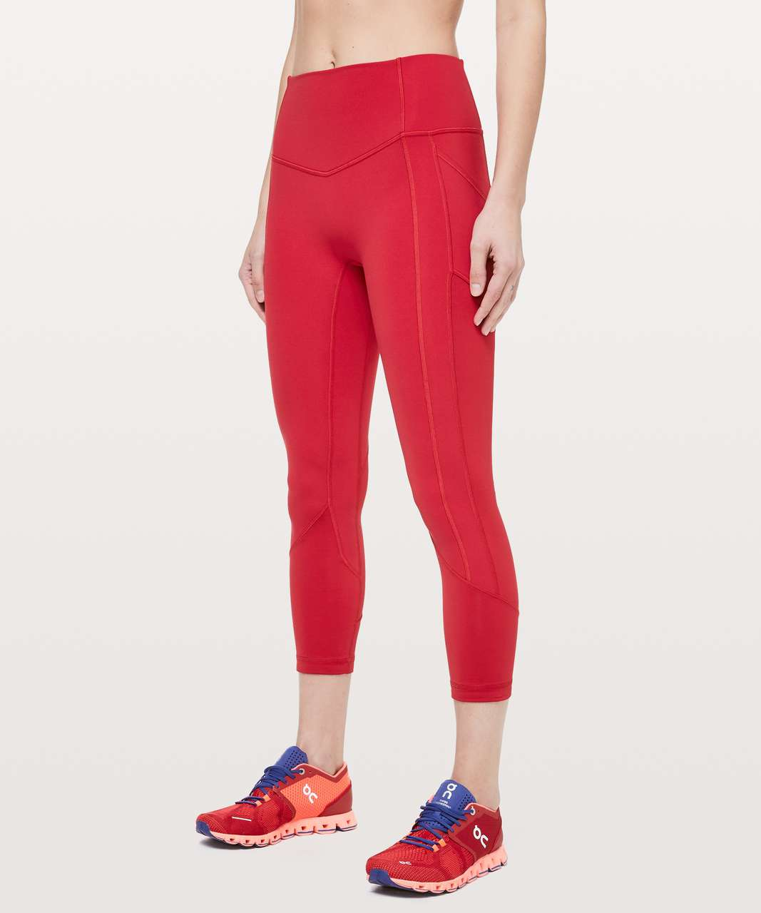 """Lululemon All The Right Places Crop II *23"""" - Dark Red"""