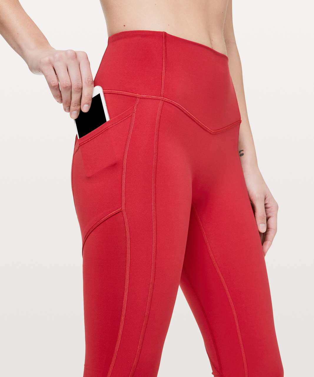 "Lululemon All The Right Places Crop II *23"" - Dark Red"