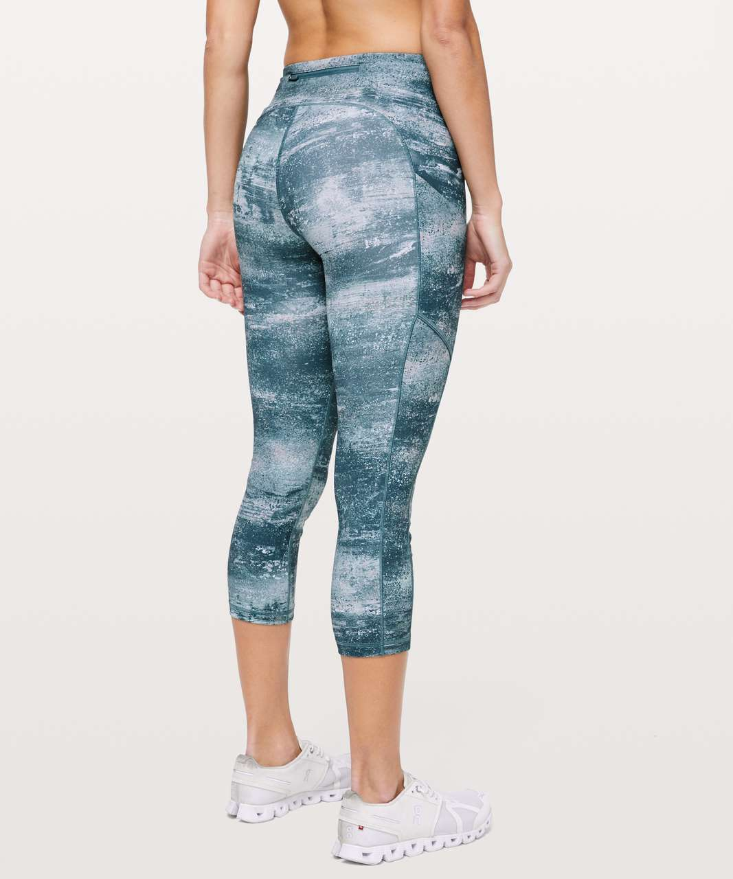 "Lululemon Speed Up Crop *21"" - Azurite Mint Tint Multi"