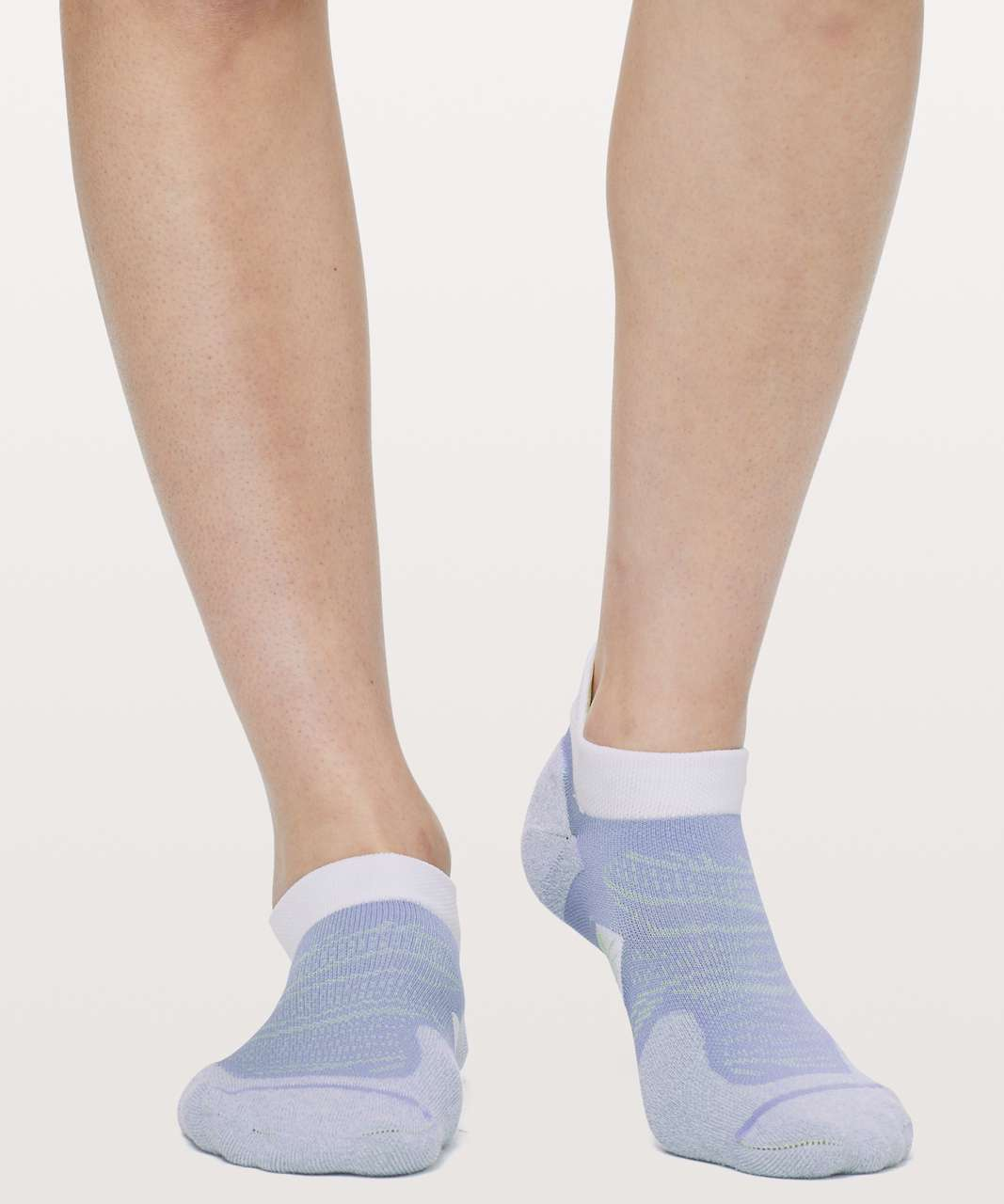 Lululemon Speed Sock *Silver - Iron Purple / Florid Flash