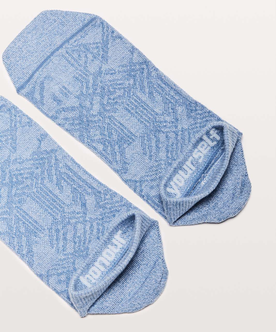 Lululemon On The Fly Sock *3-Pack - White / Windmill / Neptune Blue