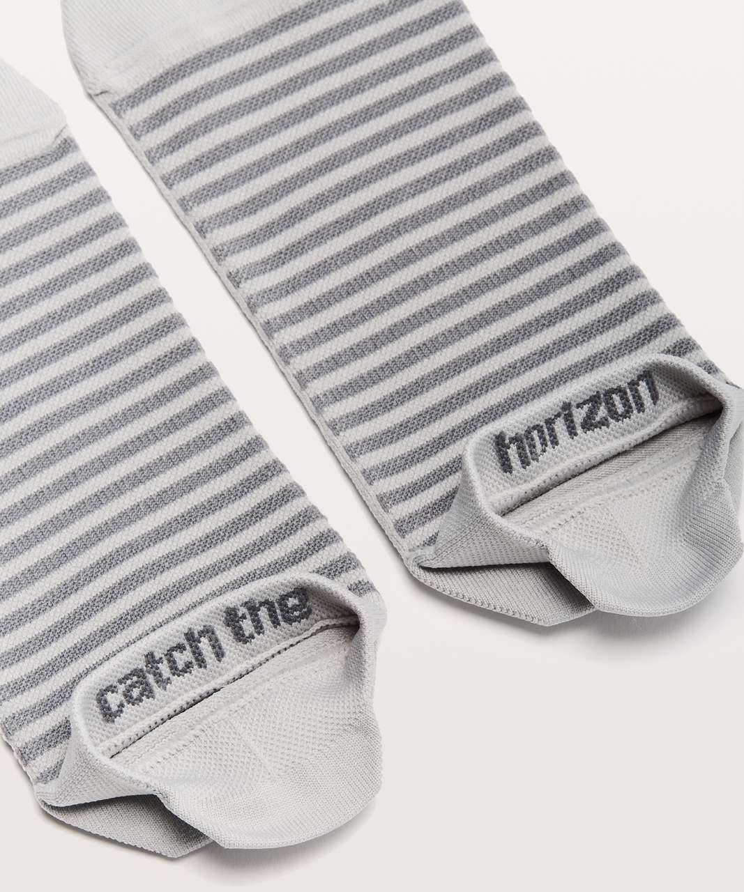 Lululemon Light Speed Sock *Silver - Sea Salt / Asphalt Grey