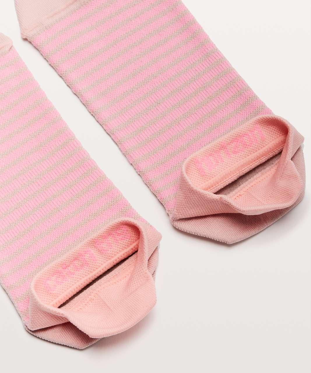 Lululemon Light Speed Sock *Silver - Cupcake Pink / Polarized Pink Tone
