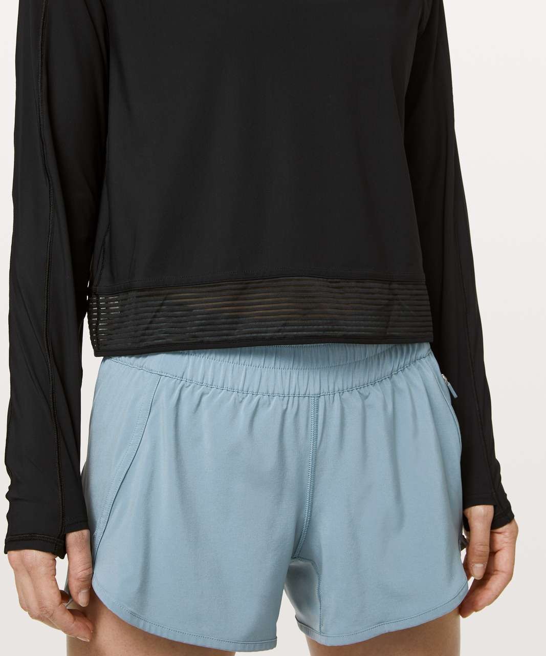 Lululemon Stripe In Stride Long Sleeve - Black