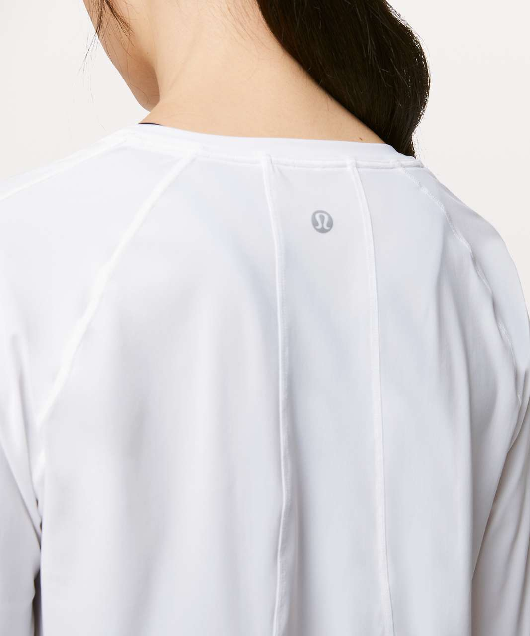 Lululemon Stripe In Stride Long Sleeve - White