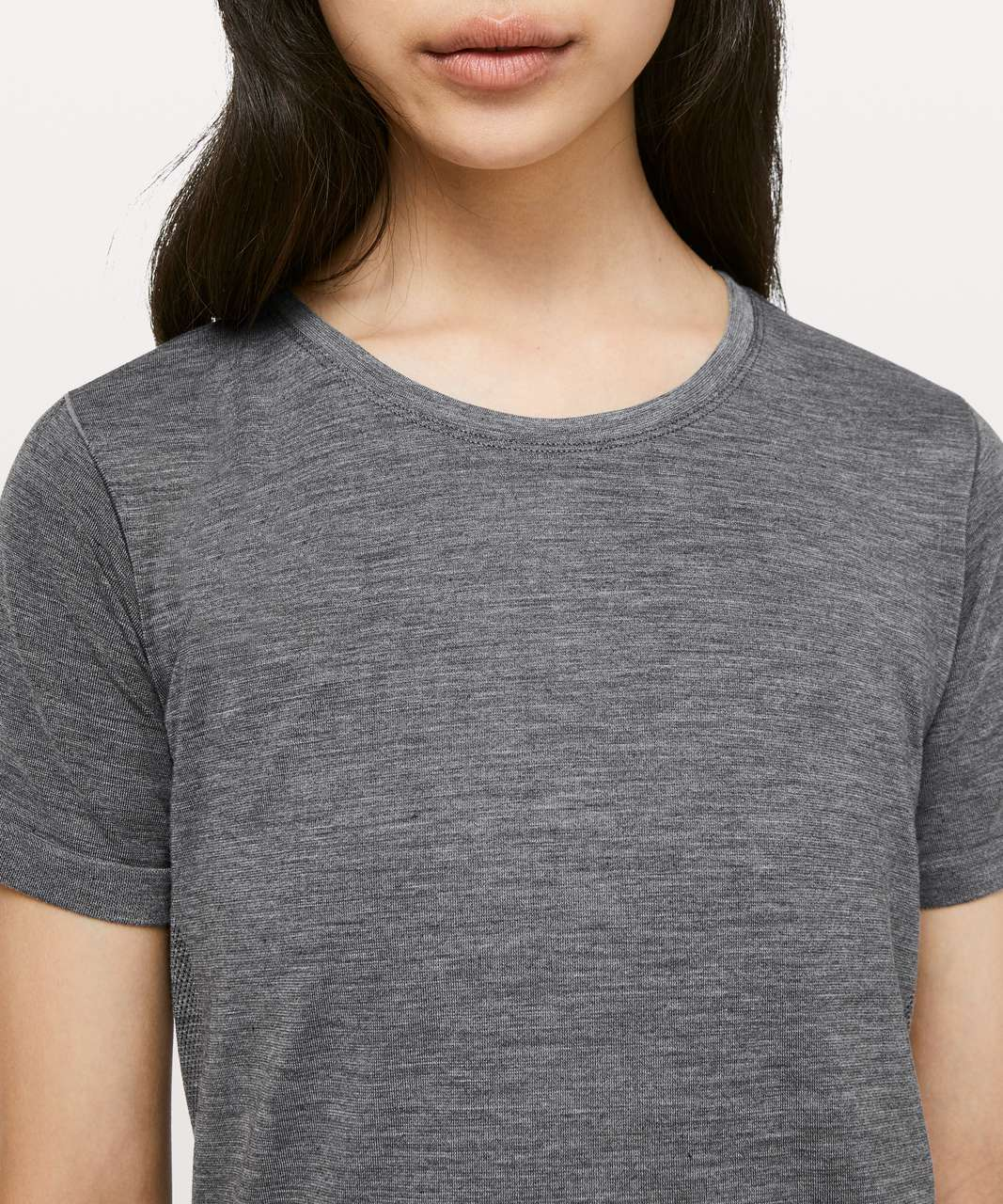 Lululemon Aerial Silk Relaxed Tee - Black / White