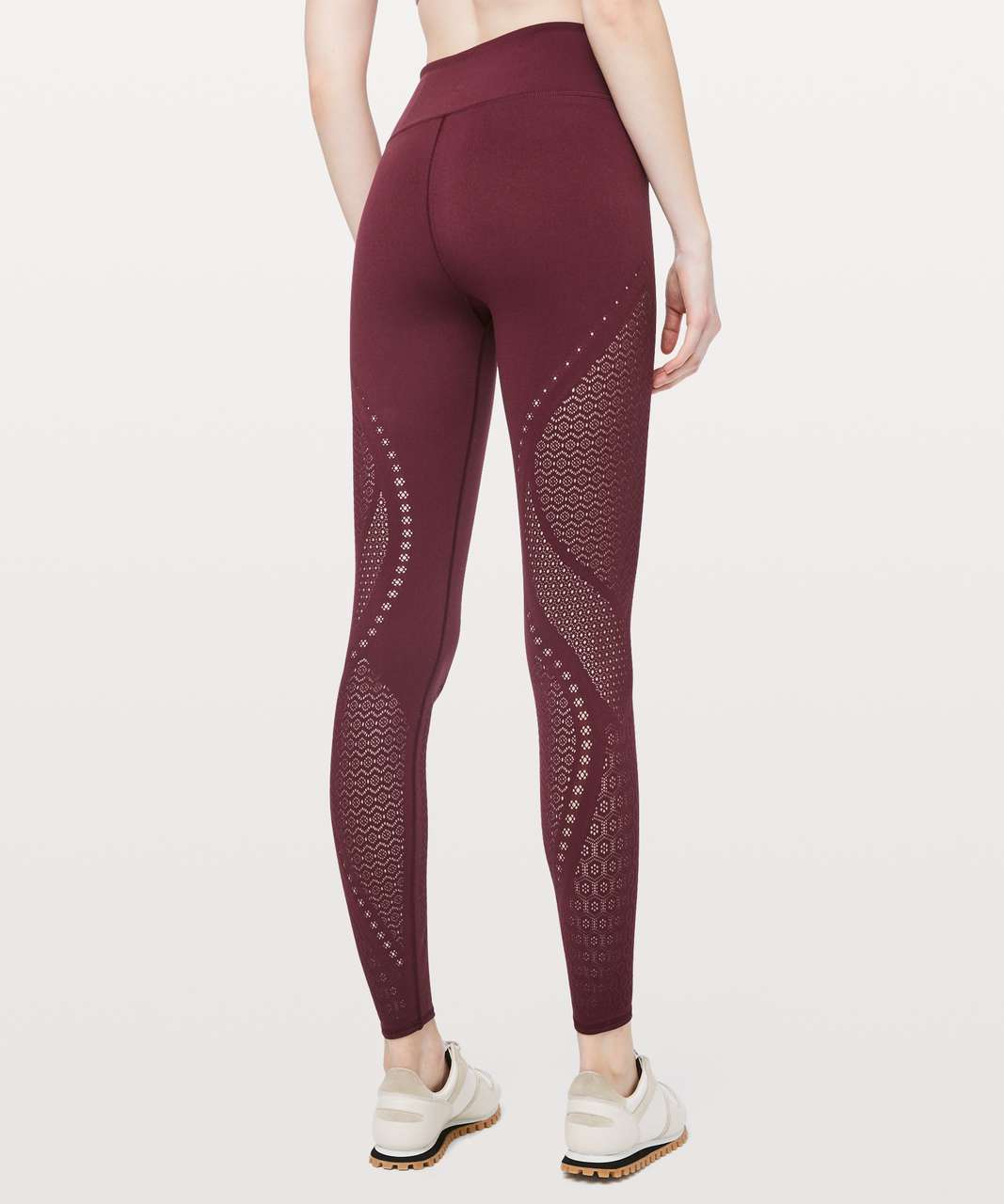 Lululemon Reveal Tight *Mindful Motion - Deep Ruby