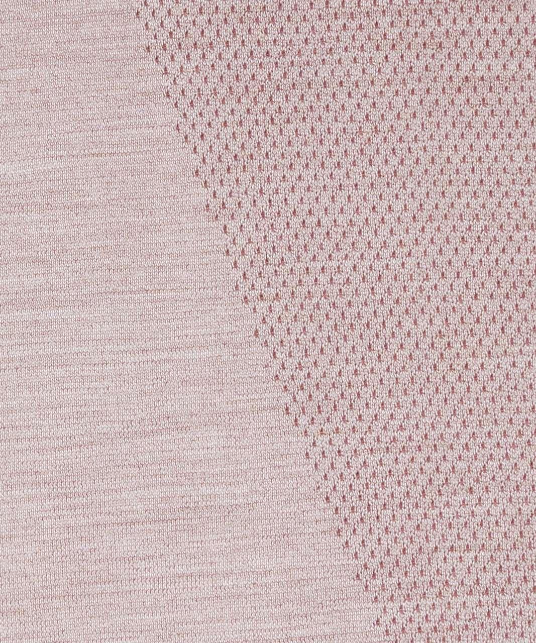 Lululemon Aerial Silk Long Sleeve - Spanish Oak / White