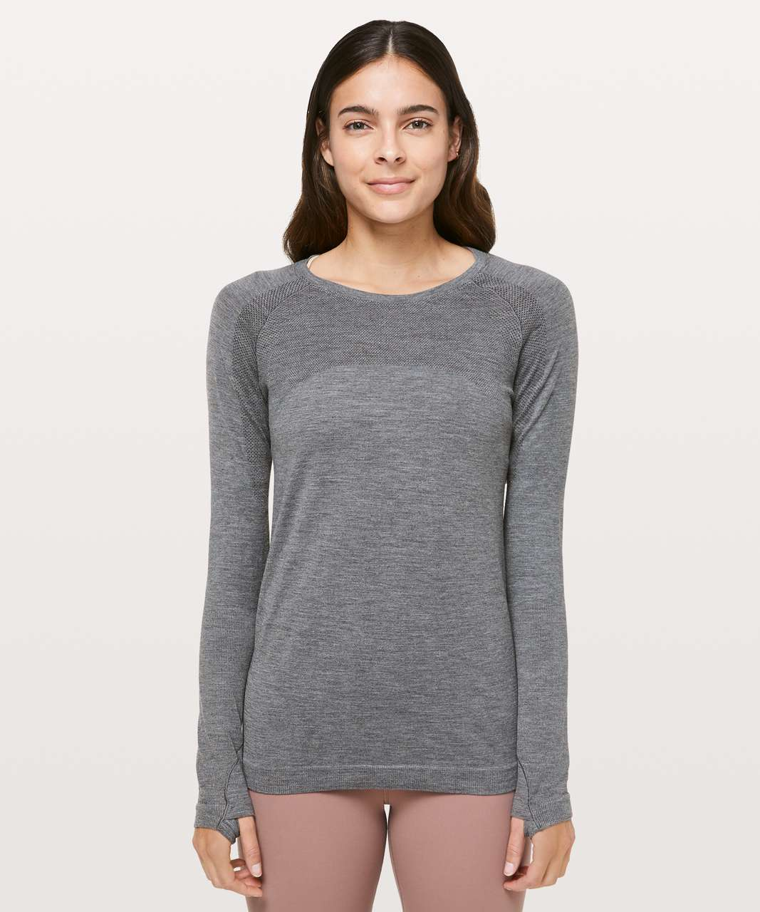 Lululemon Aerial Silk Long Sleeve - Black / White