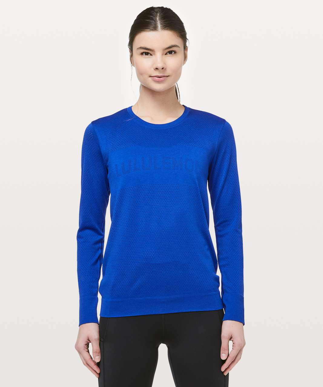 Lululemon Breeze By Long Sleeve *lululemon - Jet Stream / Jet Stream
