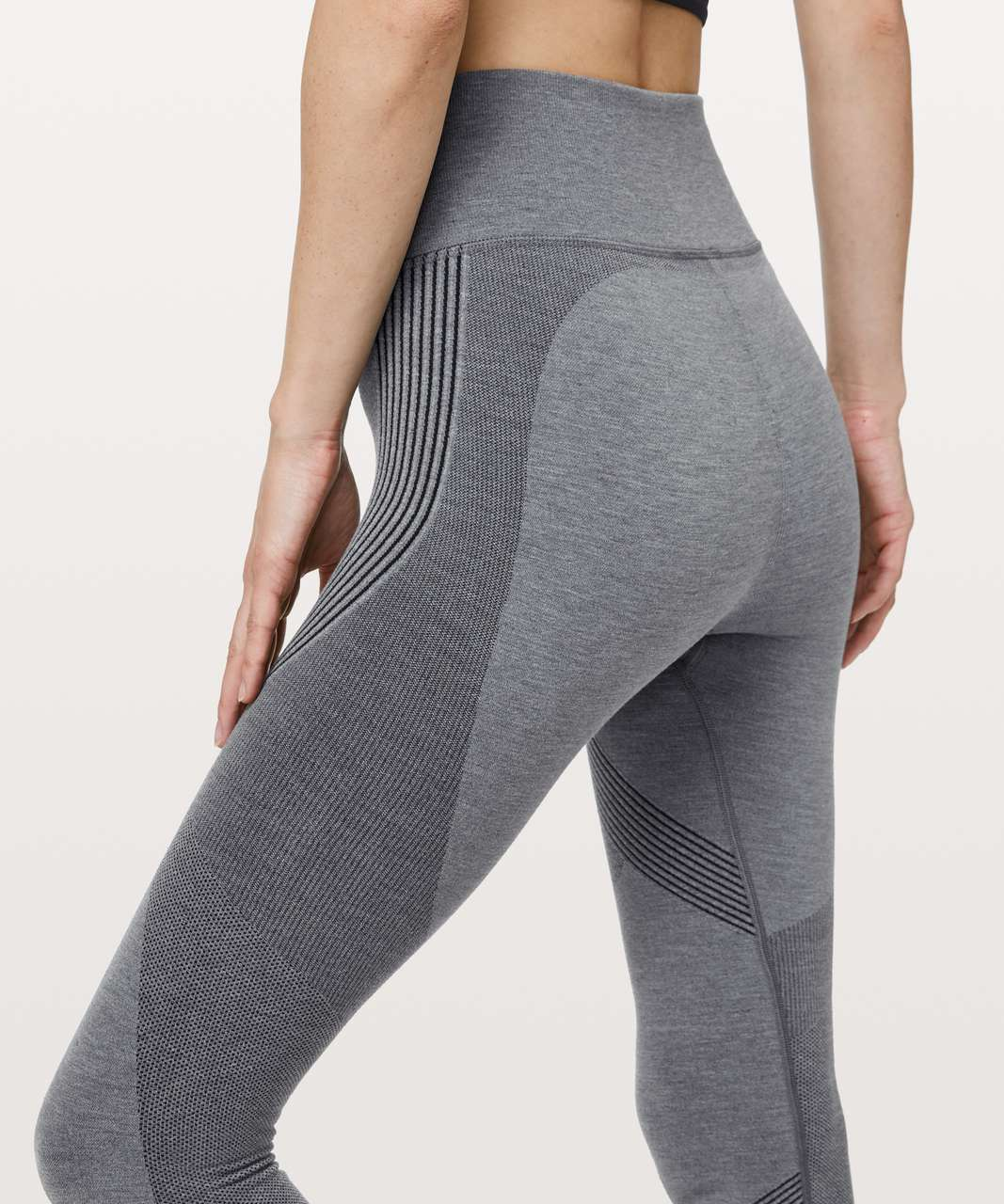 "Lululemon Aerial Silk Tight *28"" - Black / White"