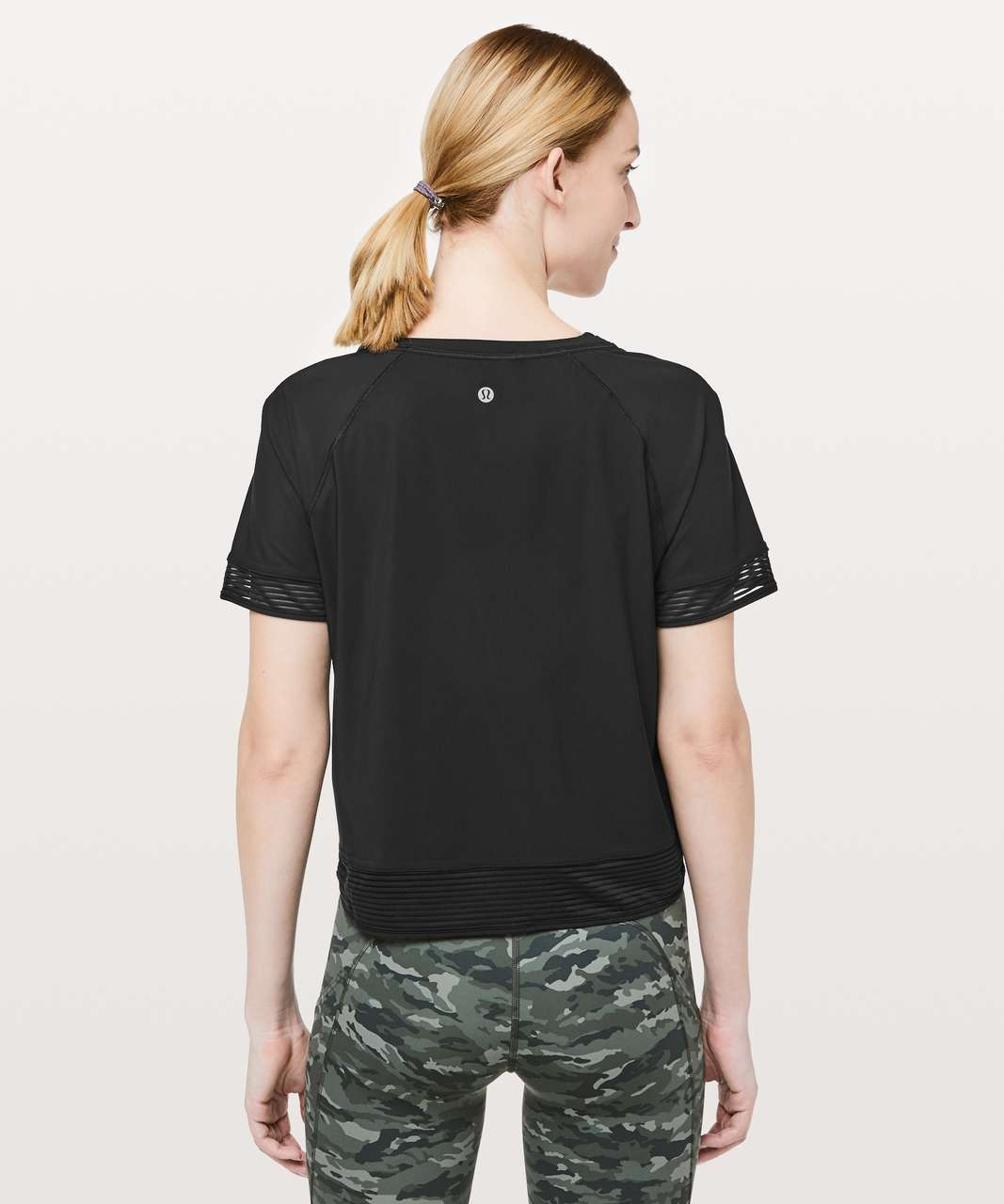 Lululemon Stripe In Stride Short Sleeve - Black