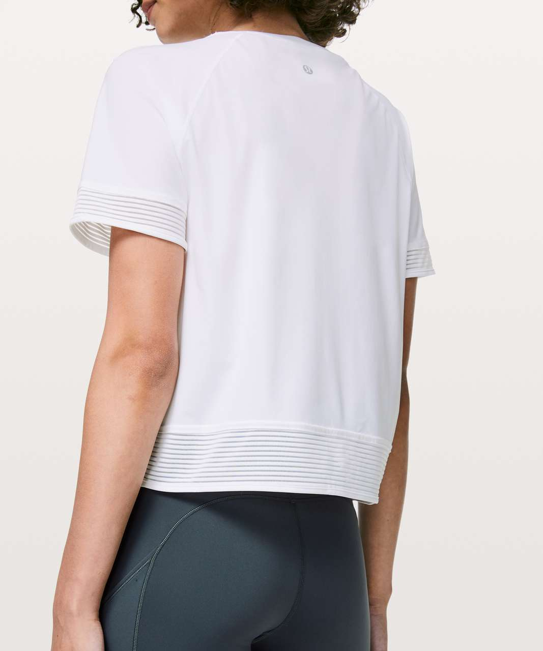Lululemon Stripe In Stride Short Sleeve - White