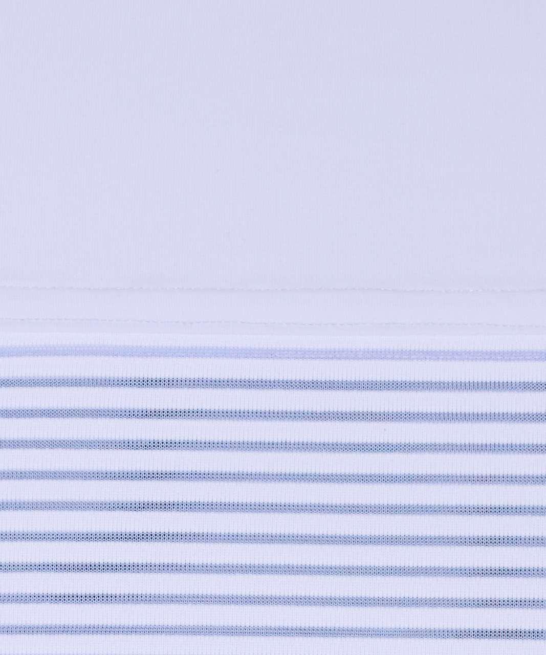 Lululemon Stripe In Stride Short Sleeve - Serene Blue