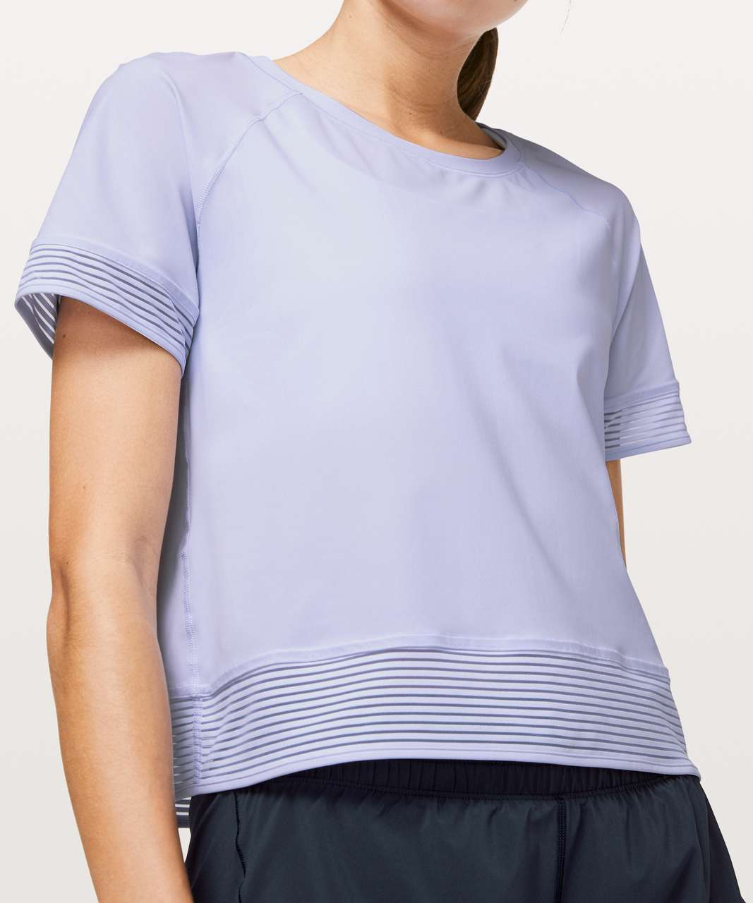 Lululemon Stripe In Stride Short Sleeve - Serene Blue