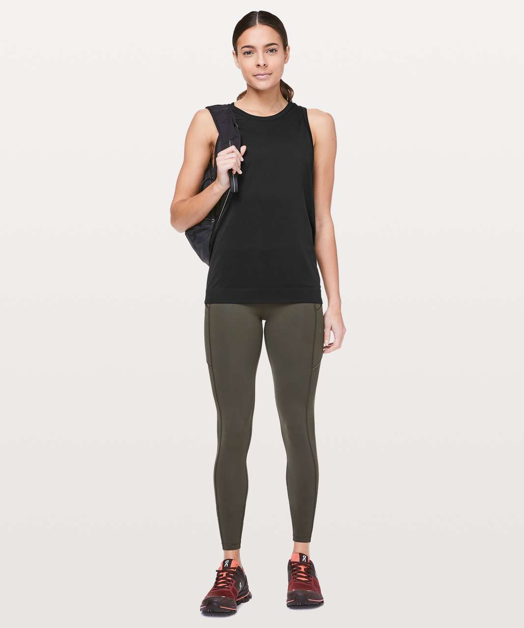 Lululemon Swiftly Breeze Tank - Black / Black