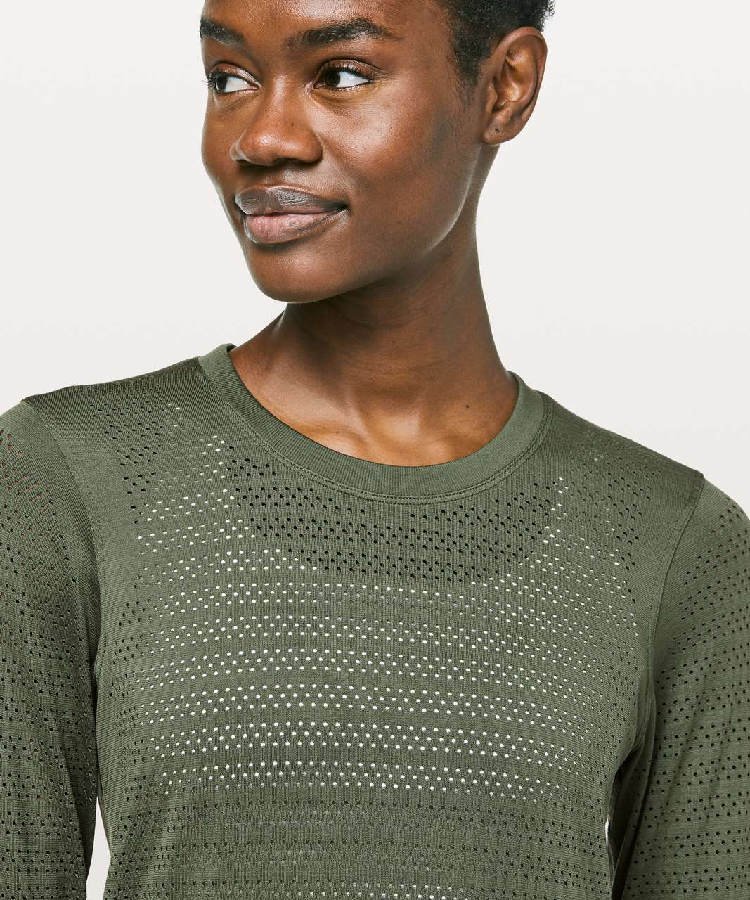 Lululemon Breeze By Long Sleeve *Squad - Barracks Green / Barracks Green