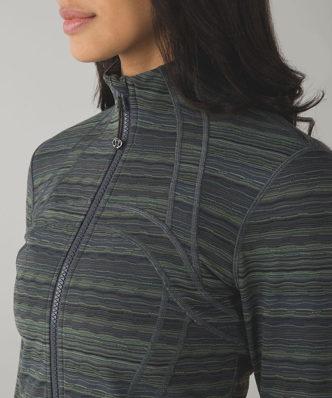 Lululemon Define Jacket - Space Dye Twist Dark Slate Fatigue Green