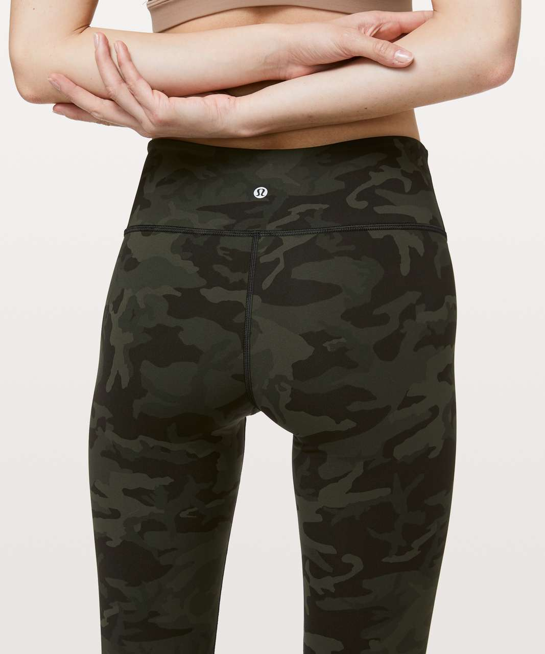 "Lululemon Wunder Under Crop III Full-On Luxtreme 21"" - Incognito Camo Multi Gator Green"