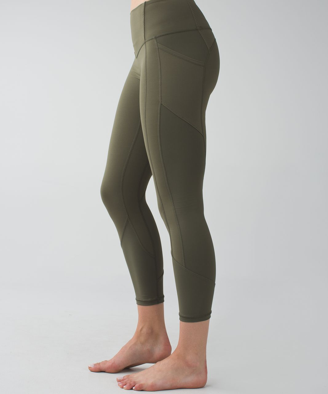 Lululemon All The Right Places Crop - Fatigue Green - lulu