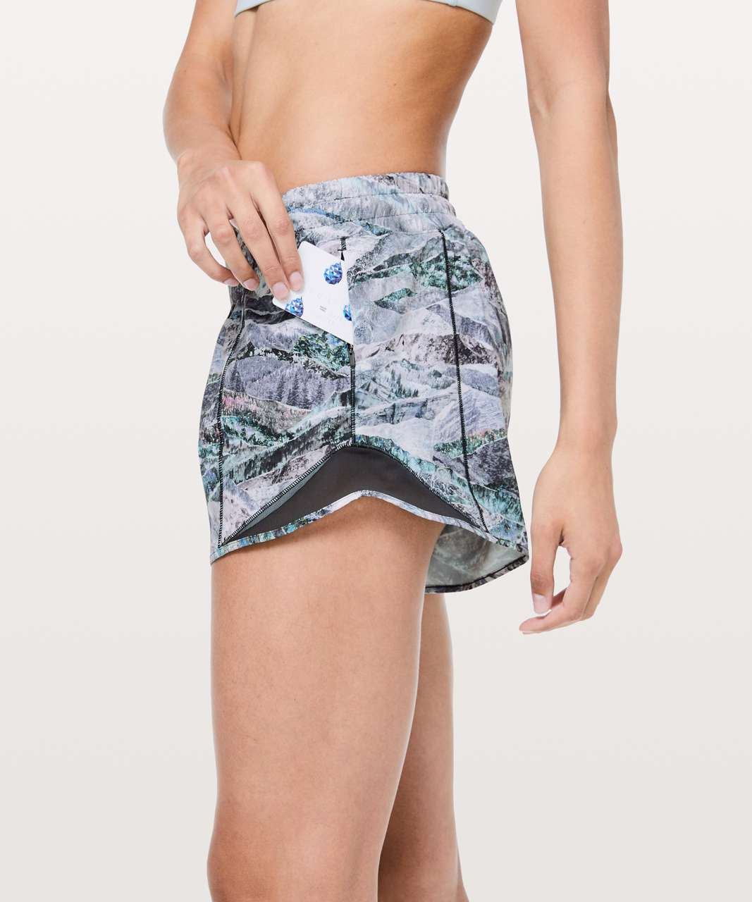 "Lululemon Hotty Hot Short II *Long 4"" - Springscape Multi / Obsidian"