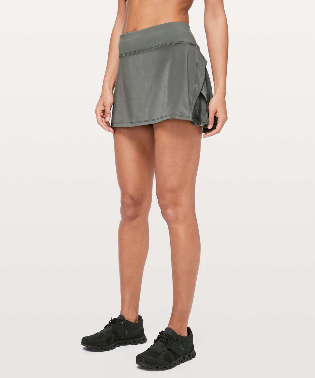 "Lululemon Play Off The Pleats Skirt *13"" - Grey Sage"