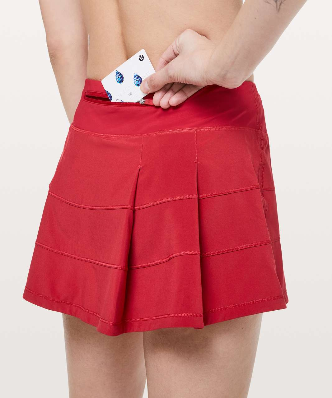 "Lululemon Pace Rival Skirt (Regular) *4-way Stretch 13"" - Dark Red (First Release)"
