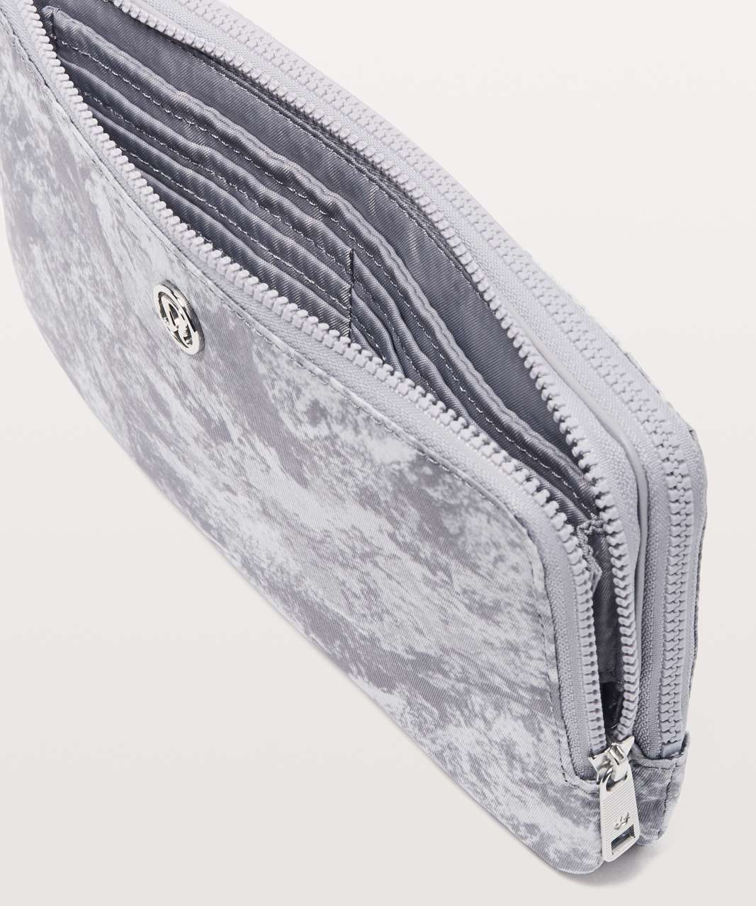 Lululemon Double Up Pouch - Washed Marble Alpine White Silverscreen