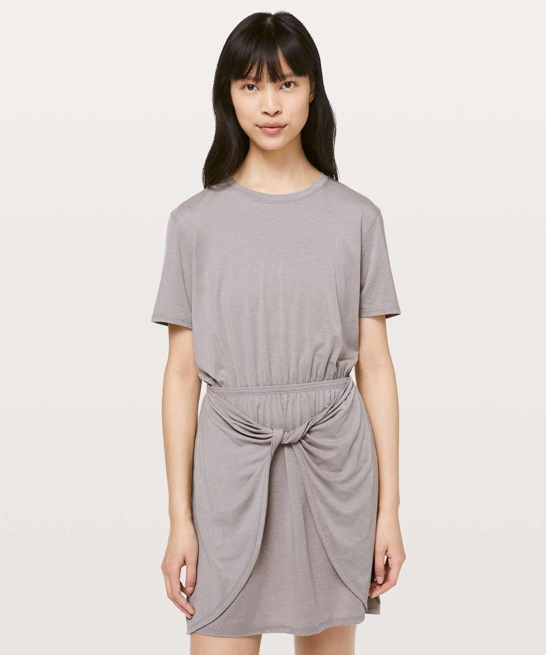 Lululemon Unwind Your Mind Dress - Dark Chrome / White