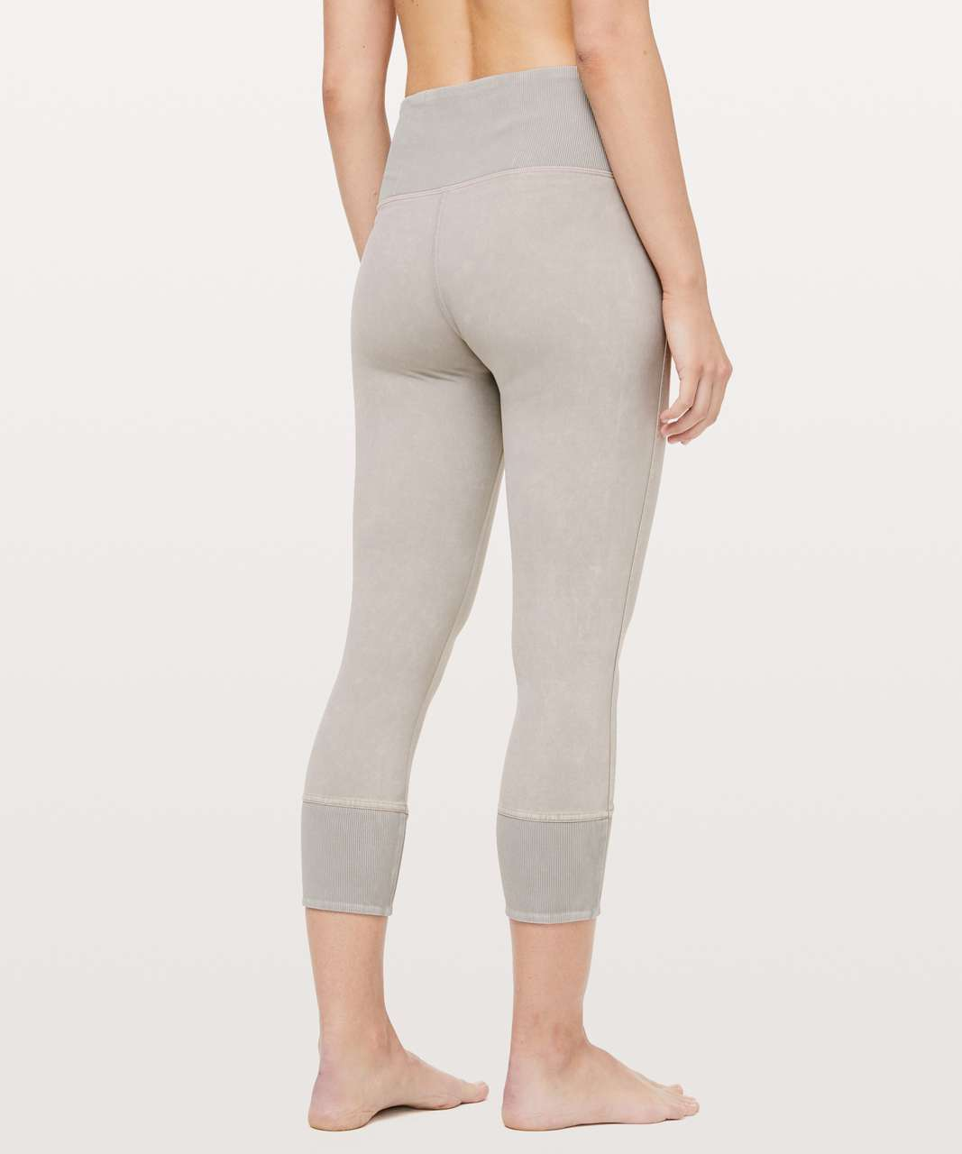 "Lululemon Wunder Under Crop 23"" *Ribbed - Washed French Clay"