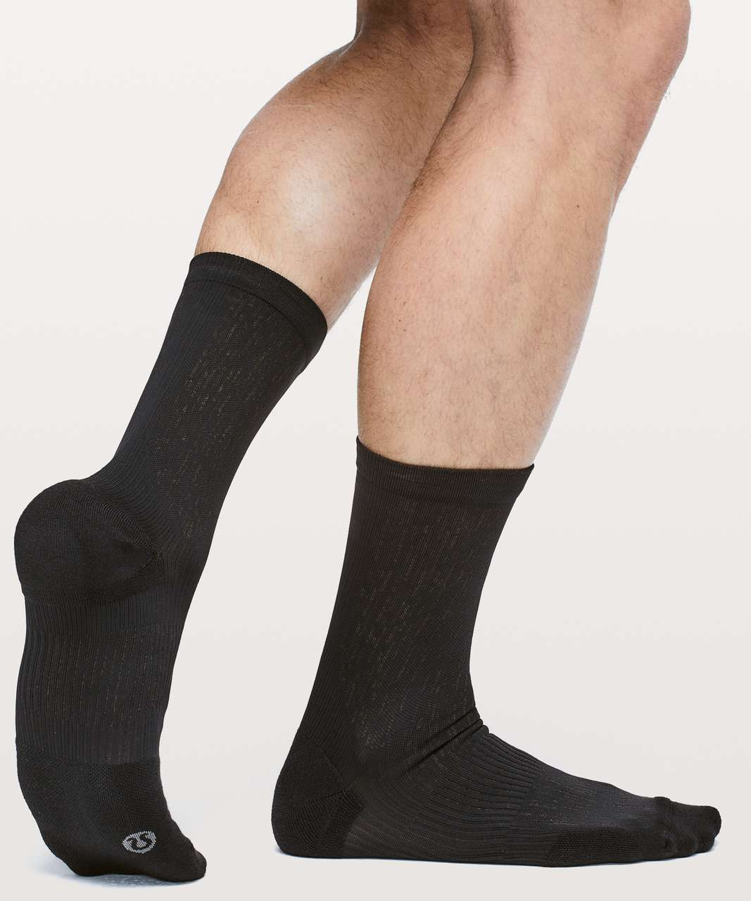 Lululemon Train To Conquer Crew Sock *Silver - Black