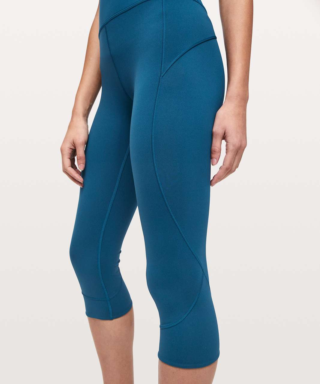"Lululemon In Movement Crop *Everlux 19"" - Deep Marine"