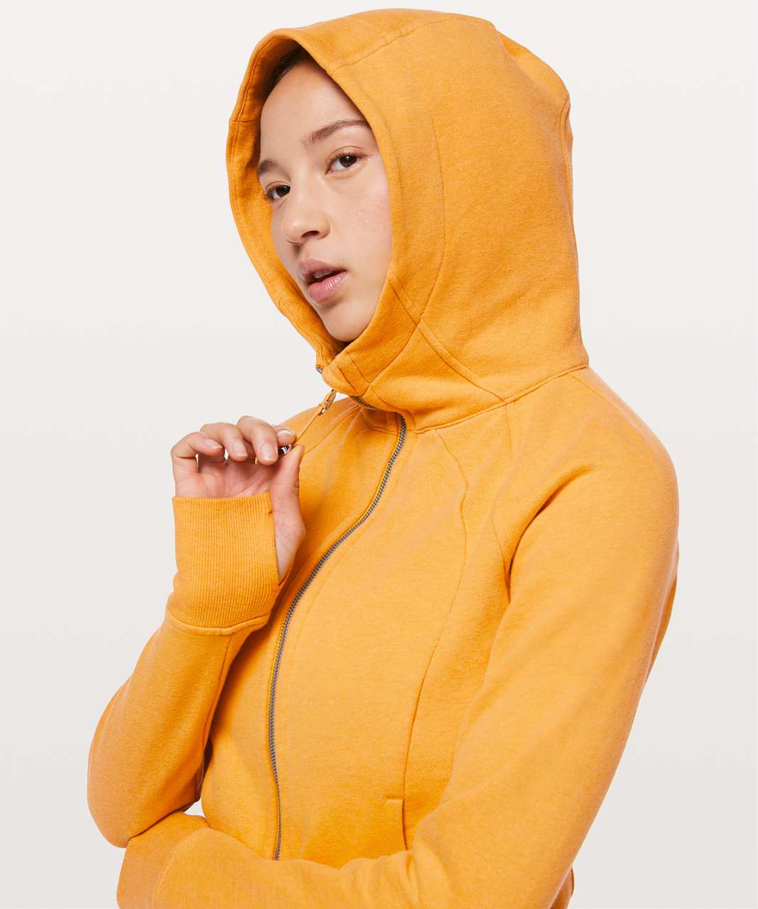 Lululemon Scuba Hoodie *Light Cotton Fleece - Heathered Honey Lemon
