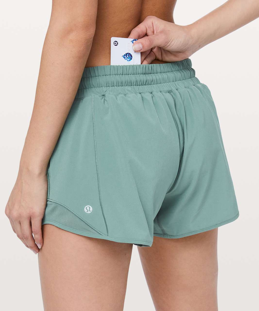 "Lululemon Hotty Hot Short II *Long 4"" - Frosted Pine"