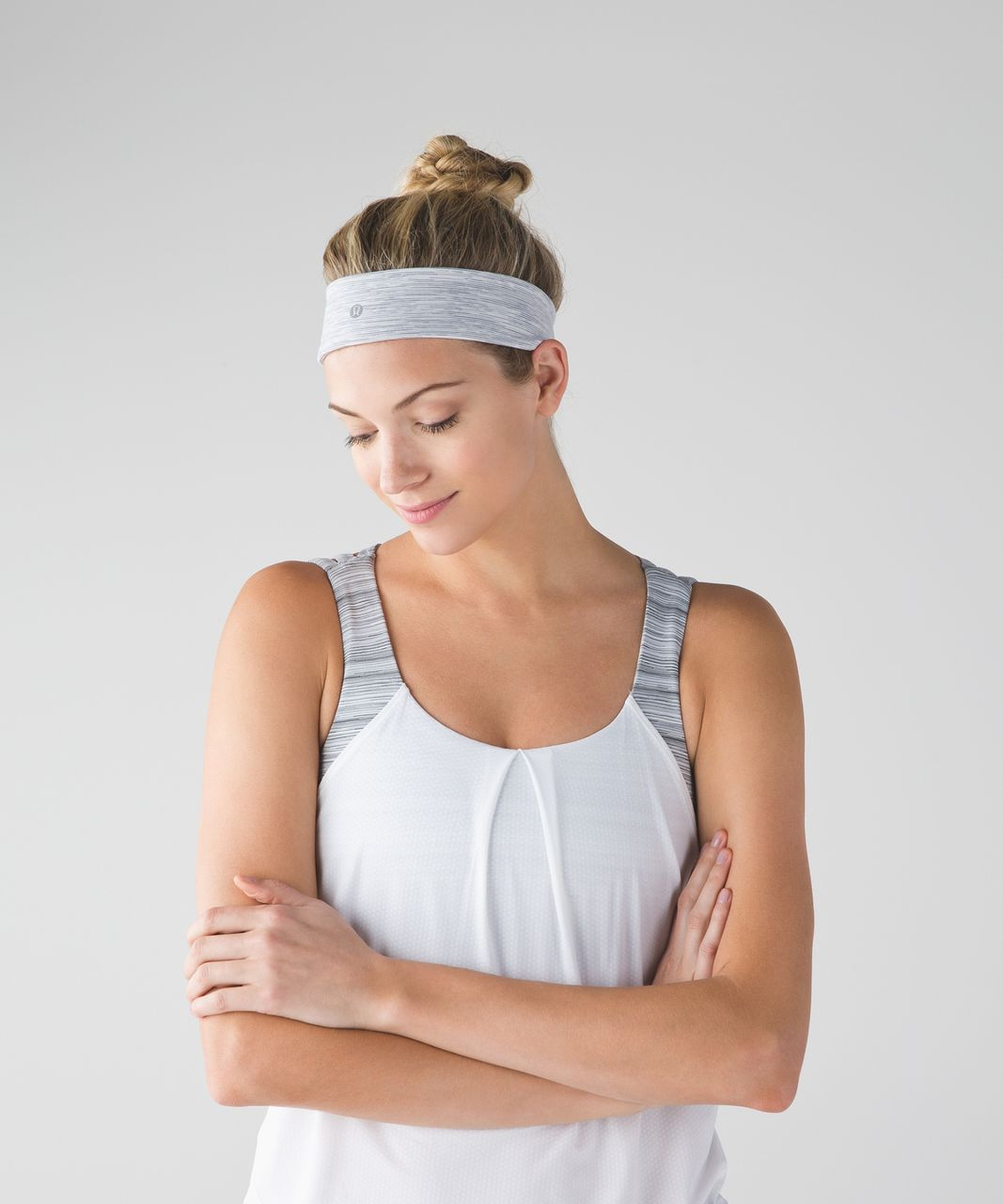 Lululemon Fly Away Tamer Headband 2.0 - Wee Are From Space Nimbus Battleship