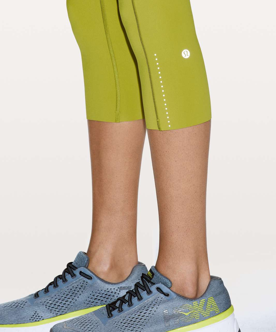 """Lululemon Fast and Free Crop II 19"""" *Nulux - Golden Lime"""