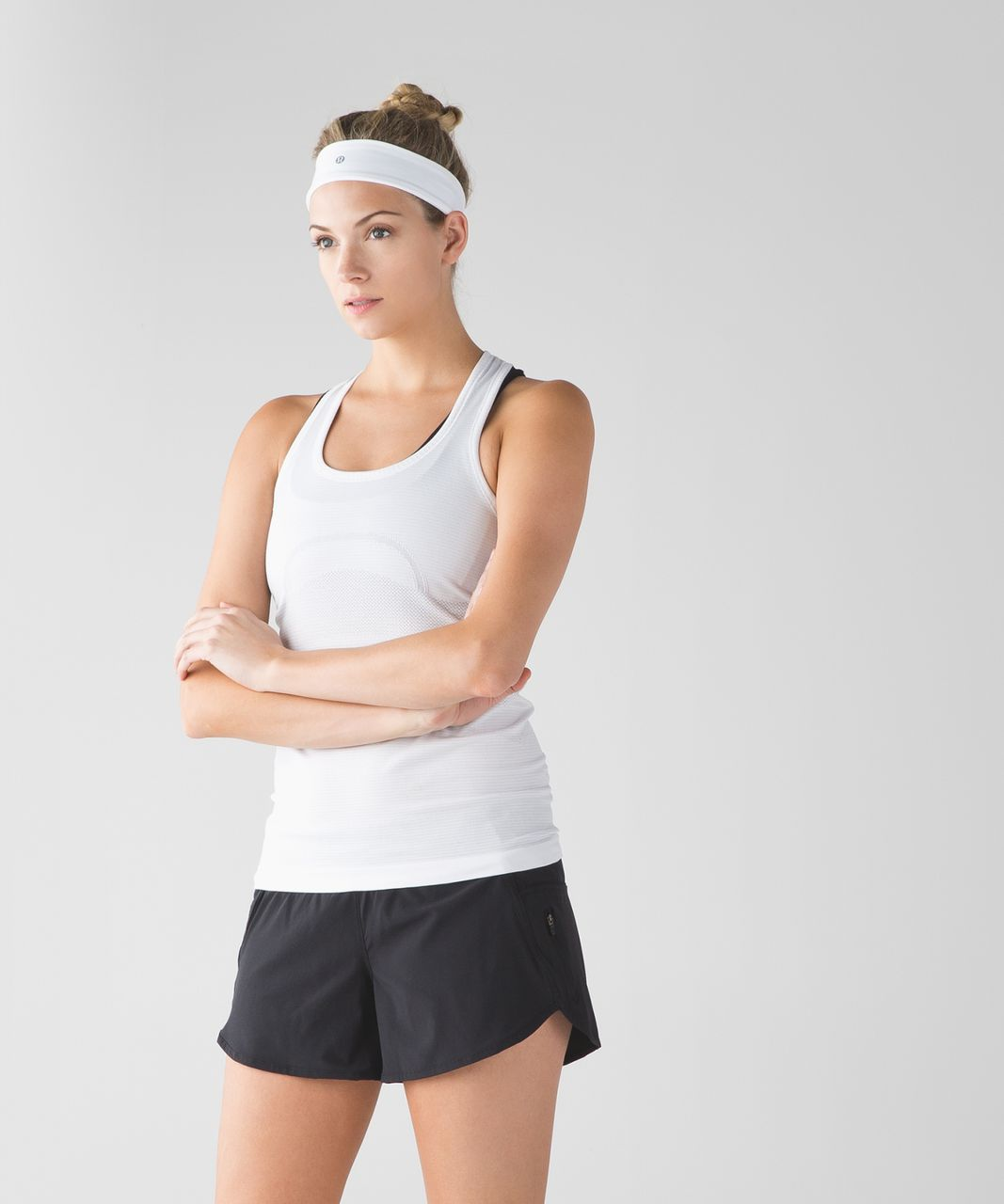 Lululemon Fly Away Tamer Headband 2.0 - White