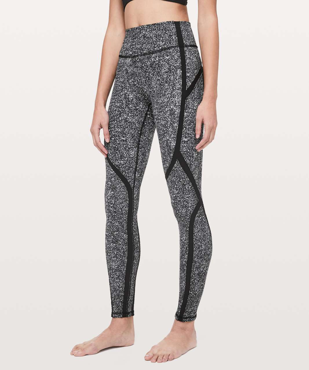 "Lululemon Sleek and Strong Tight *28"" - Diffuse Starlight Black  / Black"